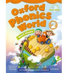 Учебник Oxford Phonics World 2 Students Book with MultiROM ISBN 9780194596183 купить Киев Украина
