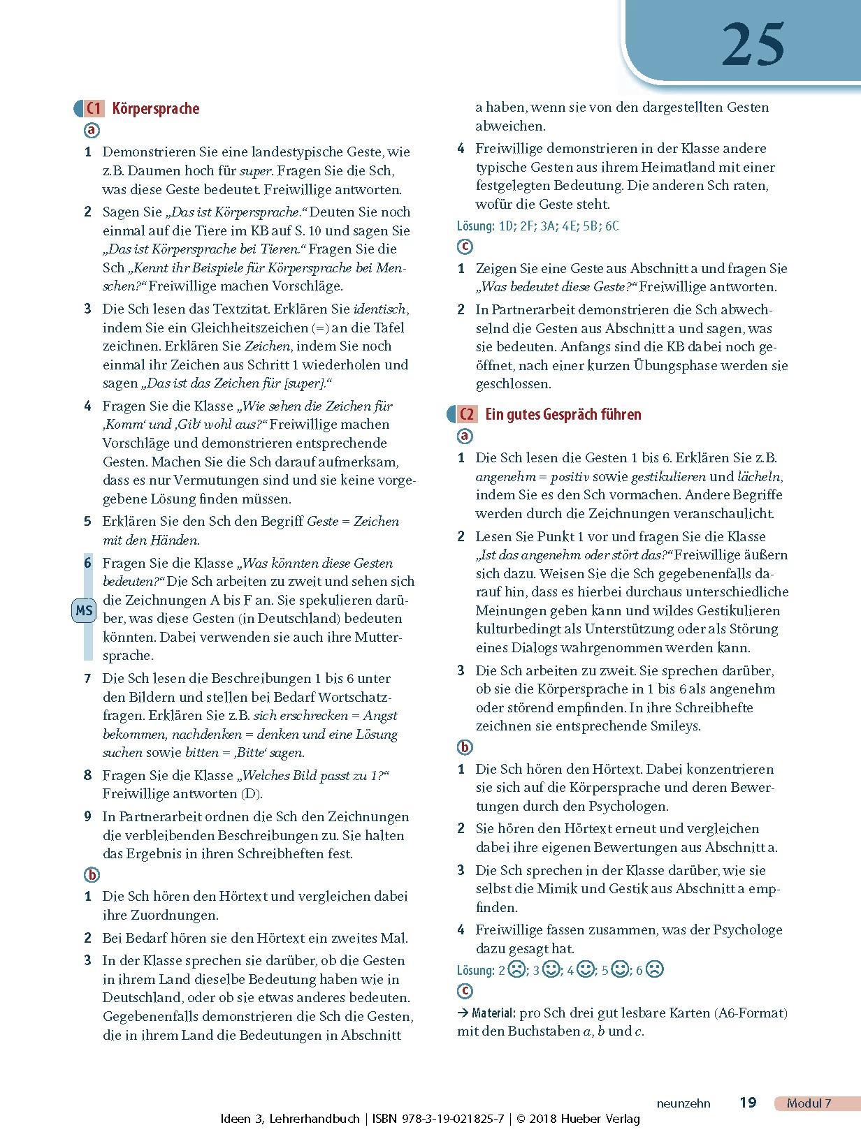 Arbeitsbuch antworten 3 ideen Hueber