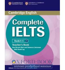 Книга для учителя Complete IELTS Bands 4-5 Teachers Book Brook-Hart, G ISBN 9780521185158 купить Киев Украина
