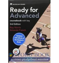 Ready for Advanced 3rd Edition Coursebook with key and eBook Pack