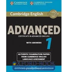 Учебник Cambridge English Advanced 1 Students Book with key ISBN 9781107653511 купить Киев Украина