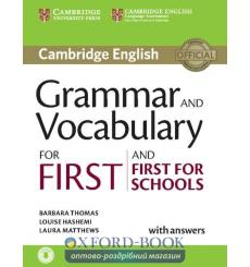 Книга Cambridge Grammar and Vocabulary for First and First for Schools with key and Downloadable Audio ISBN 9781107481060 куп...