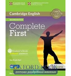 Учебник Complete First Students Book without key with CD-ROM with Testbank  3rd Edition 9781107501737 купить Киев Украина