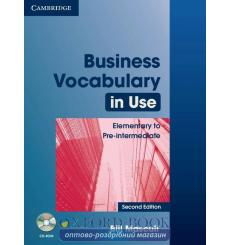 Business Vocabulary in Use Elementary/Pre-Intermediate with key and CD-ROM 2nd Edition 9780521749237 купить Киев Украина