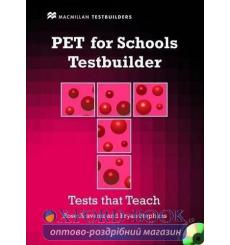 Тесты PET for Schools Testbuilder with key and Audio CD ISBN 9780230407121 купить Киев Украина