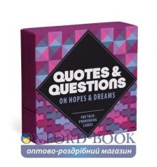 Карточки,Настольная игра Quotes and Questions on Hopes and Dreams: 100 Talk-Provoking Cards ISBN 9781683491637 купить Киев Ук...