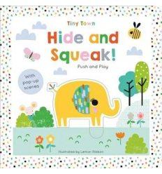 Книжка-раскладушка Push and Play Hide and Squeak! Joshua George, Lemon Ribbon ISBN 9781789580358