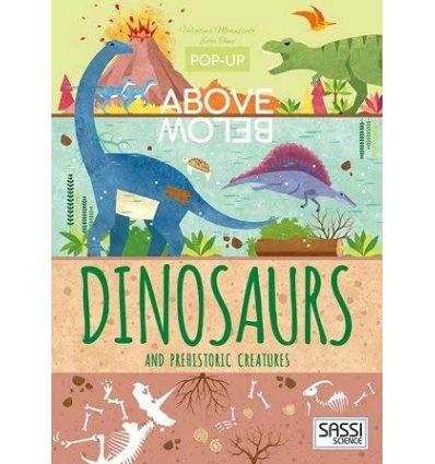 Книжка-раскладушка Pop-up Above Below Dinosaurs and Other Prehistoric Creatures Ester Tome, Valentina Manuzzato