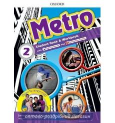 Учебник Metro 2 Students Book + Workbook Pack + Online Homework ISBN 9780194410274 купить Киев Украина