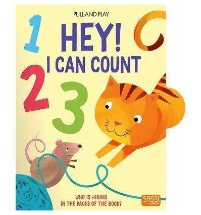 Книжка с движущимися элементами Pull-and-Play Hey! I Can Count Mathew Neil ISBN 9788868605612