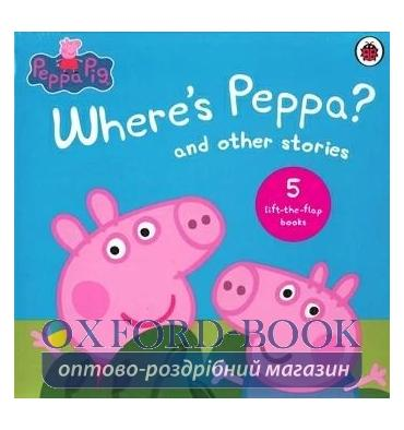 Книжка з віконцями,Набір книжок Peppa Pig: Wheres Peppa? and Other Stories Lift-the-Flap Collection ISBN 9780241326640