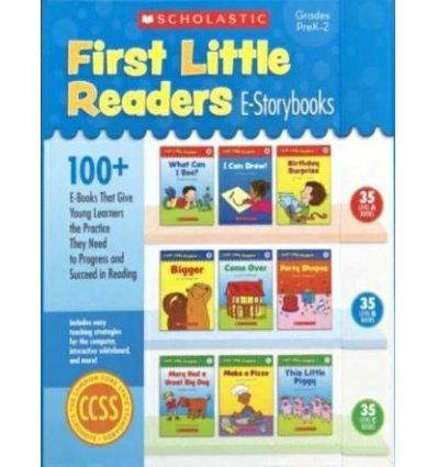 Набор из книг и дисков First Little Readers E-Storybooks Deborah Schecter ISBN 9780545522335