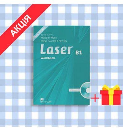 Рабочая тетрадь Laser 3rd Edition B1 workbook with Key and CD Pack ISBN 9780230433533
