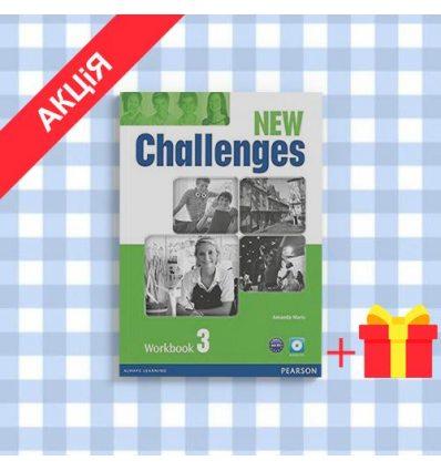 Тетрадь Challenges New 3 workbook with Audio CD 9781408298435 купить Киев Украина