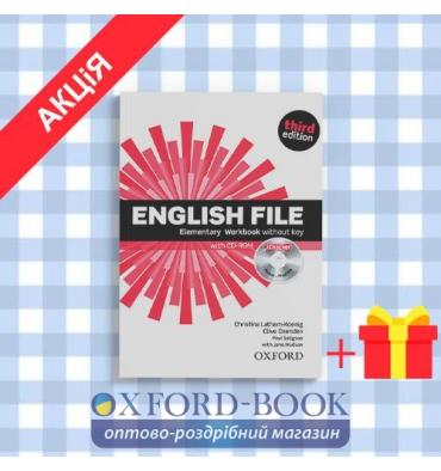 Рабочая тетрадь English File 3rd Edition Elementary workbook with iChecker CD-ROM & Answer Booklet ISBN 9780194598712