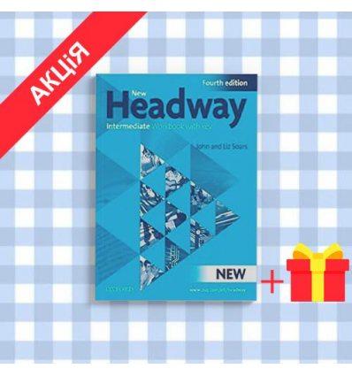 Рабочая тетрадь New Headway 4ed. Intermediate workbook with key & iChecker CD-ROM Pack ISBN 9780194770231
