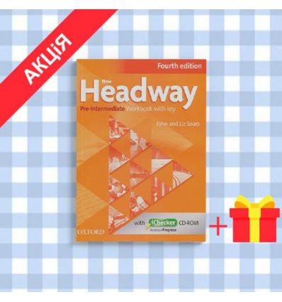 Рабочая тетрадь New Headway 4ed. Pre-Intermediate workbook with Key & iChecker CD-ROM Pack ISBN 9780194769648