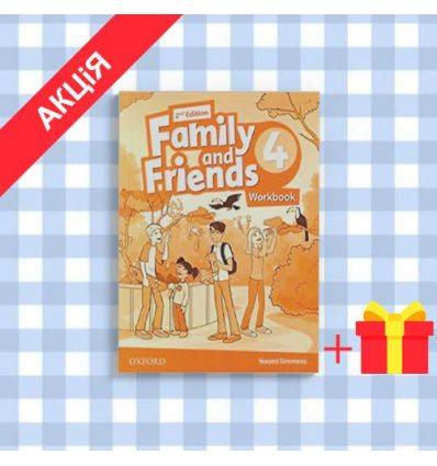 Рабочая тетрадь Family and Friends 2nd Edition 4 Workbook ISBN 9780194808088