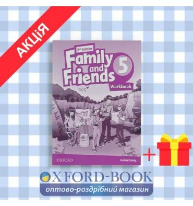 Рабочая тетрадь Family and Friends 2nd Edition 5 Workbook ISBN 9780194808101