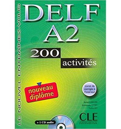 DELF A2, 200 Activites Livre + CD audio ISBN 9782090352450