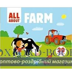 Книга с движущимися элементами,Книга с окошками All about Farm Geraldine Krasinski ISBN 9782745995513 купить Киев Украина