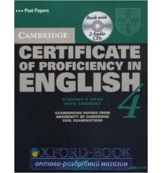 Учебник Cambridge Certificate of Proficiency in English 4 Students Book with answers and Audio CDs 9780521611572 купить Киев ...