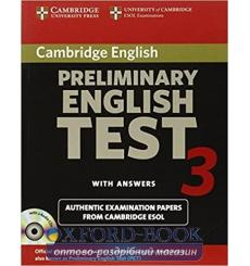 Учебник Cambridge English Preliminary 3 Self-study Pack (Students Book with answers and Audio CDs (2)) 9780521754774 купить К...