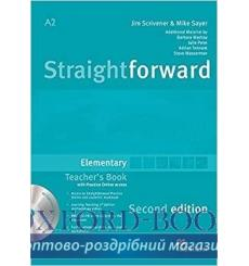 Книга для учителя Straightforward Elementary Teachers Book with CD-ROM and Practice Online access 3rd Edition 9780230423114 к...