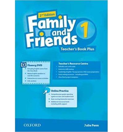 Книжка для вчителя Family and Friends 2nd Edition 1 Teachers Book Plus Julie Penn ISBN 9780194796477