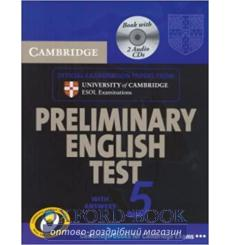 Учебник Cambridge English Preliminary 5 Self-study Pack (Students Book with answers and Audio CDs (2)) 9780521714396 купить К...