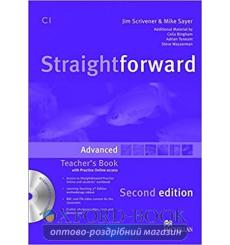 Книга для учителя Straightforward Second Edition Advanced Teacher's Book with CD-ROM and Practice Online access John Waterman...