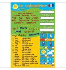 Плакат Le calendrier et nombres 9781906707200