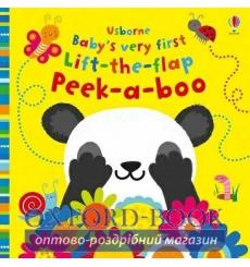 Книга с окошками Babys Very First Lift-the-Flap Peek-a-Boo Fiona Watt, Stella Baggott ISBN 9781474967860 купить Киев Украина