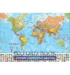 Книга The World Political Wall Map with Flags ISBN 9781903030592 купить Киев Украина