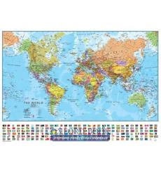 Книга The World Political Wall Map with Flags ISBN 9781903030622 купить Киев Украина