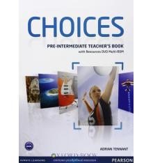 Книга для учителя Choices Pre-Intermediate teachers book+ Multi-ROM ISBN 9781408289792