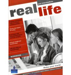 Real Life Pre-Intermediate: Workbook with Multi-ROM