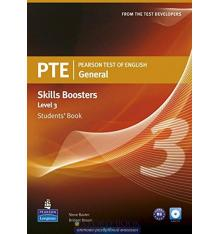 Учебник Pearson Test of English (PTE) General Skills Booster Students Book Level 3 ISBN 9781408267837