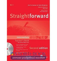 Книга для учителя Straightforward Intermediate Teachers Book with CD-ROM and Practice Online access 3rd Edition 9780230423305...