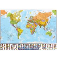 Книга The World Political Wall Map with Flags and Metallic Strips ISBN 9781903030745 купить Киев Украина