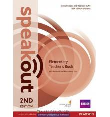 Книга для учителя SpeakOut 2nd Edition Elementary teachers book with Audio CD ISBN 9781292120140