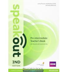 Книга для учителя SpeakOut 2nd Edition Pre-Intermediate teachers book with Audio CD ISBN 9781292120164