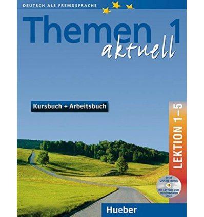 Themen aktuell 1Kursbuch und Arbeitsbuch, Lektion 1-5, + CD-ROM