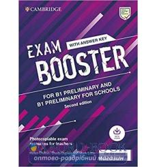 Книга Exam Booster for Preliminary and Preliminary for Schools Second Edition with answer key (for the revised exams 2020) ку...