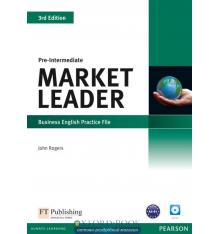 Market Leader 3rd Edition Pre-Intermediate Practice File with Audio CD ISBN 9781408237083