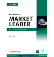 Market Leader 3rd Edition Pre-Intermediate Practice File with Audio CD Pack