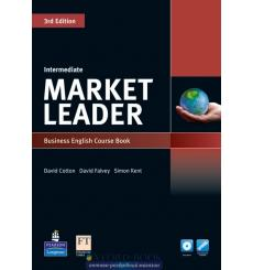 Market Leader 3rd Edition Intermediate Coursebook with DVD-ROM and MyEnglishLab