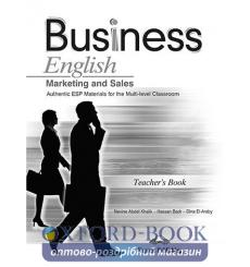 Книга для учителя Bussiness English Marketing and Sales Teachers Book ISBN 9781848621381 купить Киев Украина