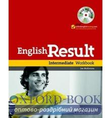 Рабочая тетрадь English Result Intermediate Workbook with key and MultiROM ISBN 9780194305006