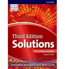 Учебник Solutions Pre-Intermediate Students book 3rd Edition 9780194510561 купить Киев Украина